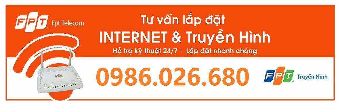 Đăng kí lắp đặt truyền hình, internet wifi FPT tại Tp.Vinh – 0986.026.680
